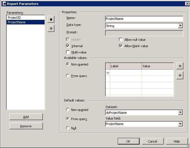 Adding a parameter
